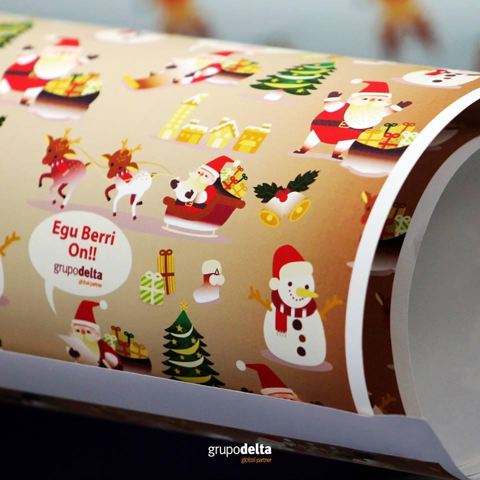 Papel de regalo personalizado - Especial Navidad Grupo Delta