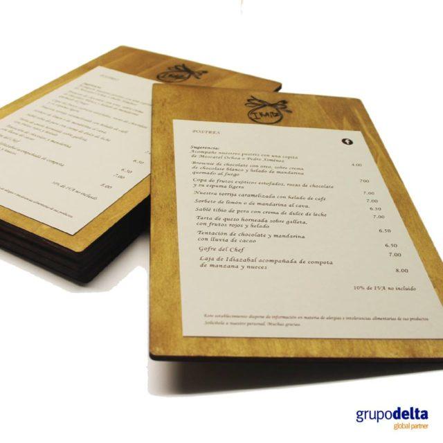 Material gráfico para hostelería, Grupo Delta Global Partner