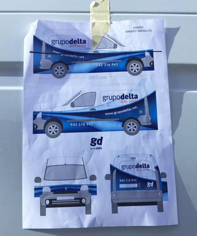 Rotulación coche, Grupo Delta Global Partner